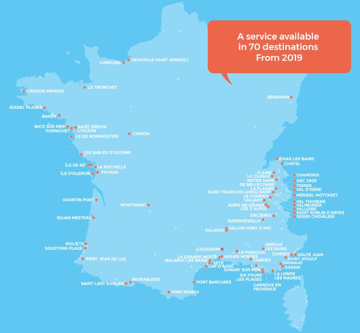 Carte Odalys Vacances La Conciergerie